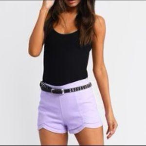 Tobi lavender shorts Med NWT